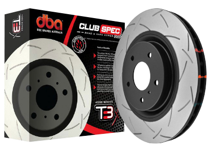 DBA Ford Focus RS Slotted 4000 Series Rotors