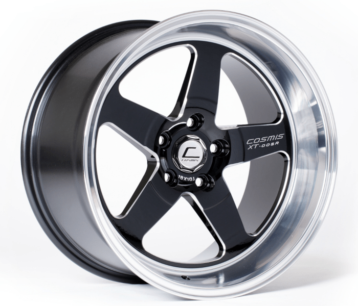 Cosmis Racing XT-005R Wheel Black w/ Machined Lip