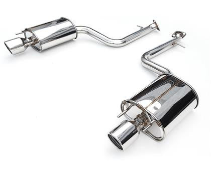 Invidia 15+ Subaru WRX/STI 4Dr Q300 Twin Outlet Rolled Stainless Steel Quad Tip Cat-Back Exhaust - Panda Motorworks
