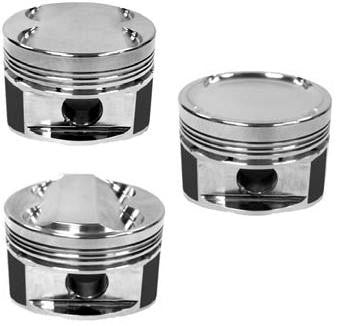 Manley 08+ Mitsubishi Evo X (4B11T) 86.5mm +.5mm Oversize Bore 9.0:1 Dish Piston Set with Rings - Panda Motorworks