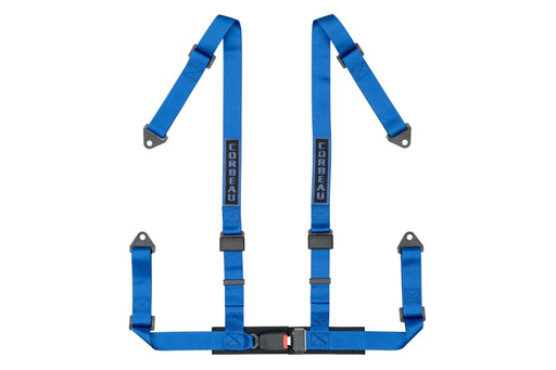 Corbeau 2 Inch 4 Point Bolt In Harness Blue