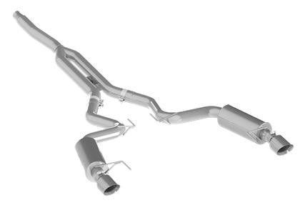 Mustang EcoBoost MBRP Aluminized Cat Back Exhaust - Panda Motorworks