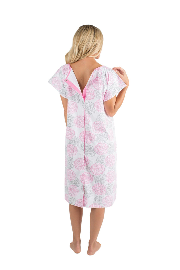 lilly gownies  designer hospital maternity gowns pink grey floral  u2013 baby be mine