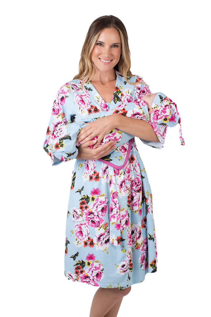 Isla Delivery Robe & Swaddle Blanket Set