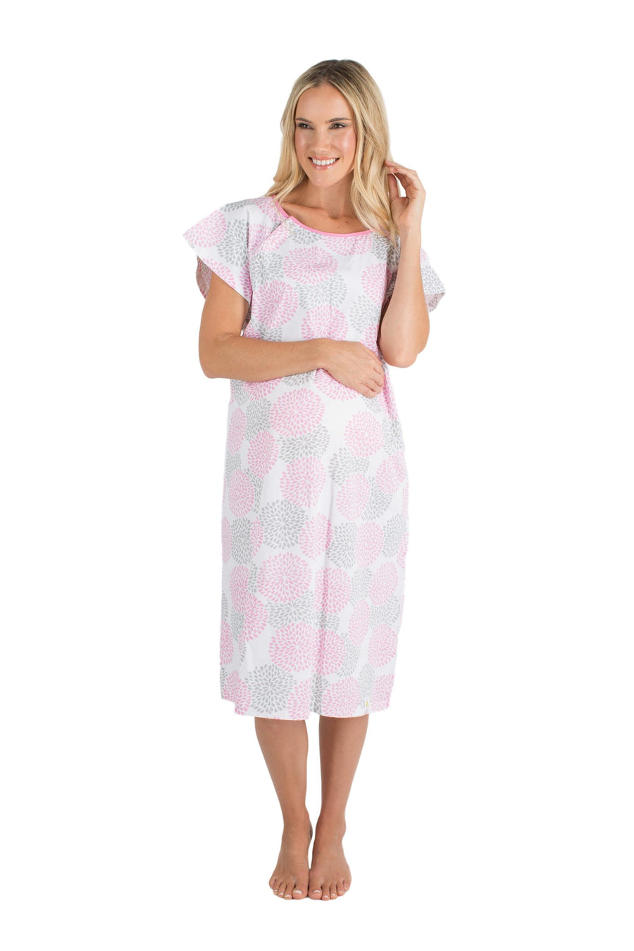 Lilly Gownies: Designer Hospital Maternity Gowns Pink Grey Floral ...