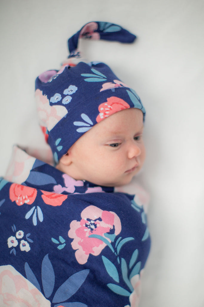 Annabelle Baby Swaddle Blanket Set & Matching Headband