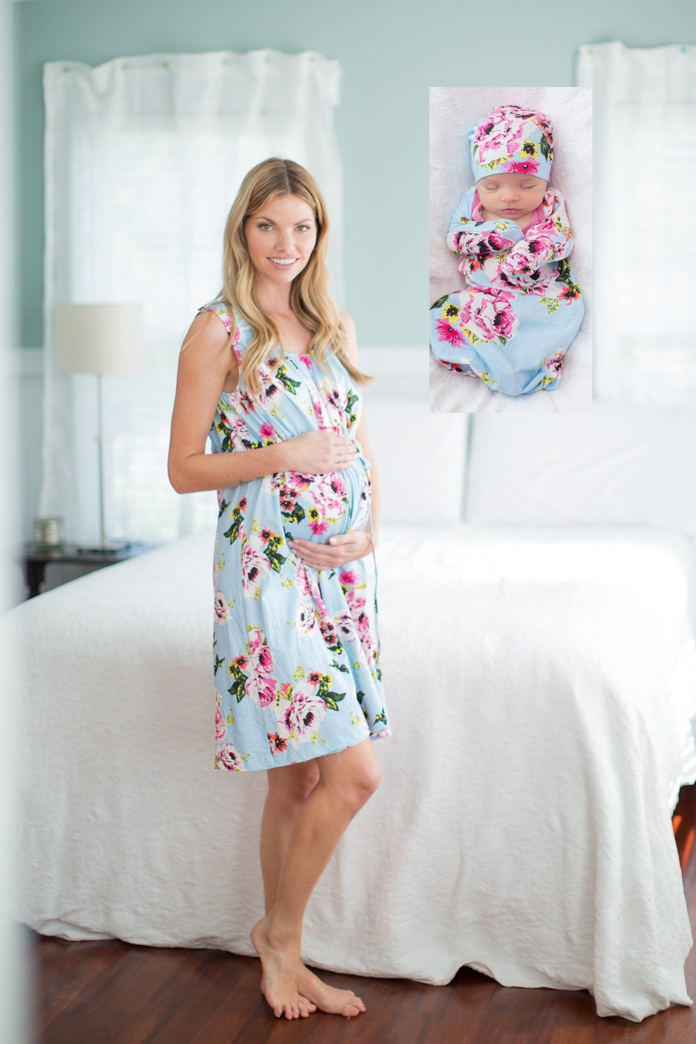 Isla 3 in 1 Labor Gown & Baby Gown Set