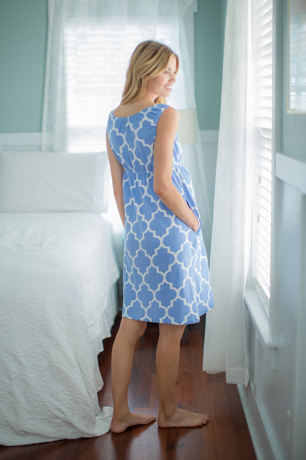 Marin Maternity/Nursing Nightgown & Baby Receiving Gown Set