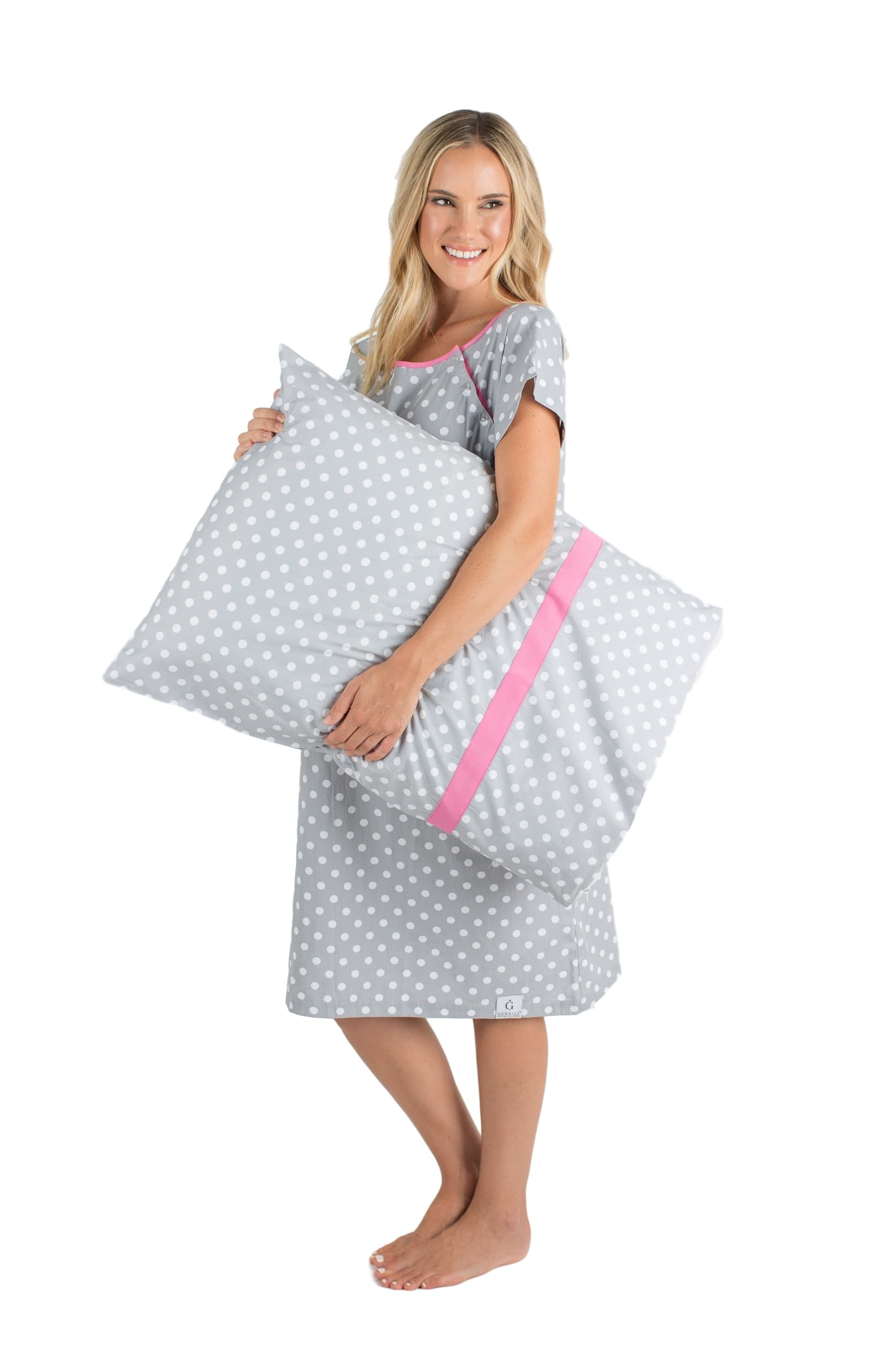 Lisa Maternity Labor and Delivery Hospital Gown Gownie & Matching Pillowcase Set