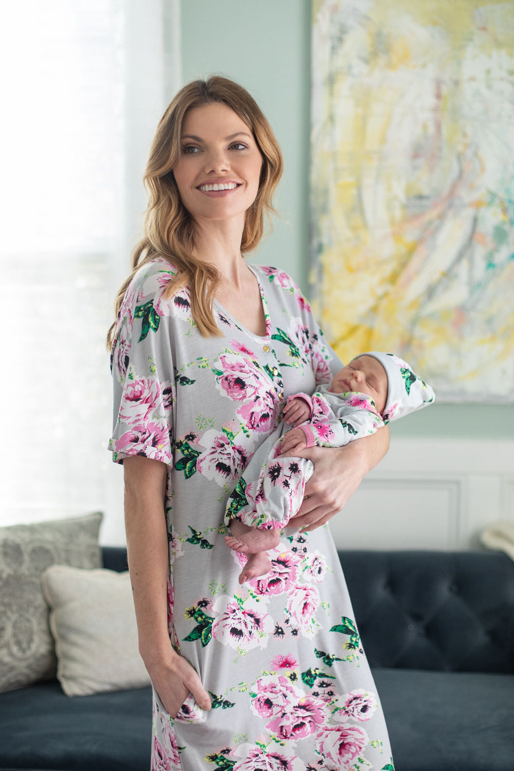 Olivia Endless House Dress & Matching Baby Gown Set