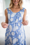 Zoe Blue Floral 3 in 1 Labor Gown