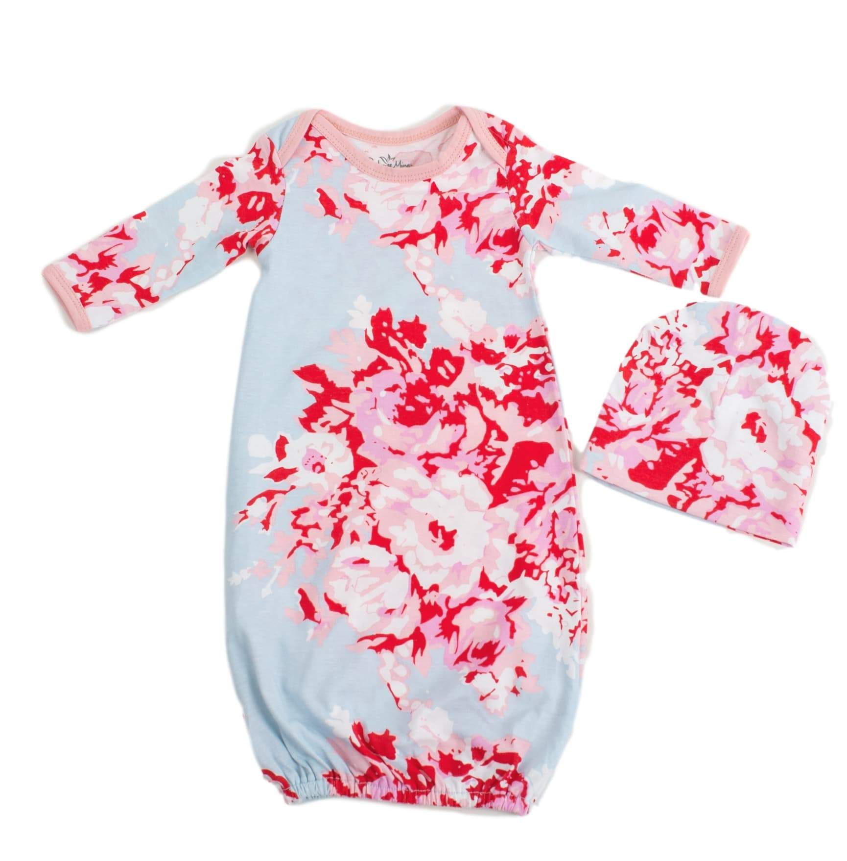 a1afcda0a29 Mae Maternity Nursing Nightgown   Matching Baby Receiving Gown Set ...