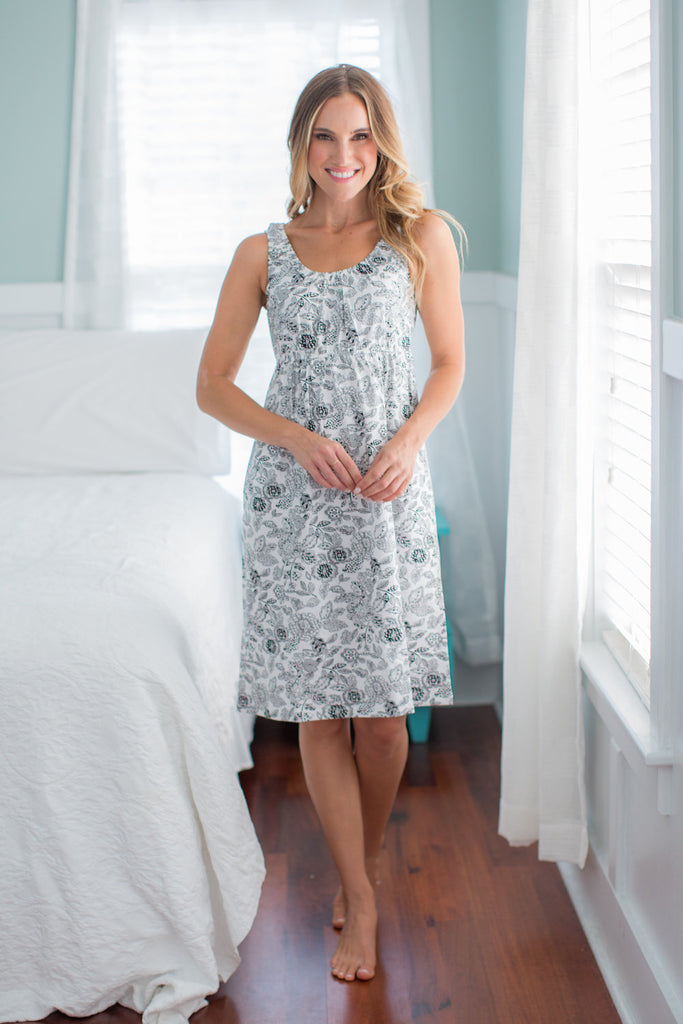 Ella Maternity/Nursing Nightgown & Matching Baby Receiving Gown Set