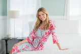 Mae Floral Maternity Labor Delivery Nursing Robe