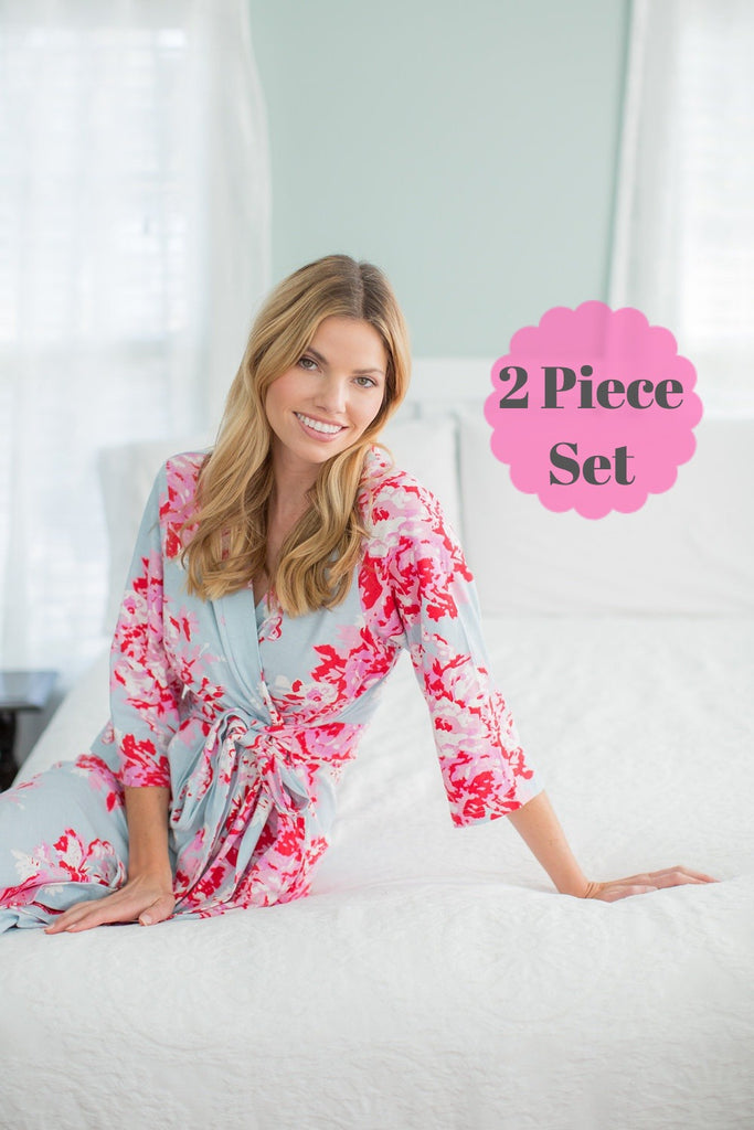 Mae Maternity Nursing Nightgown & Robe Set