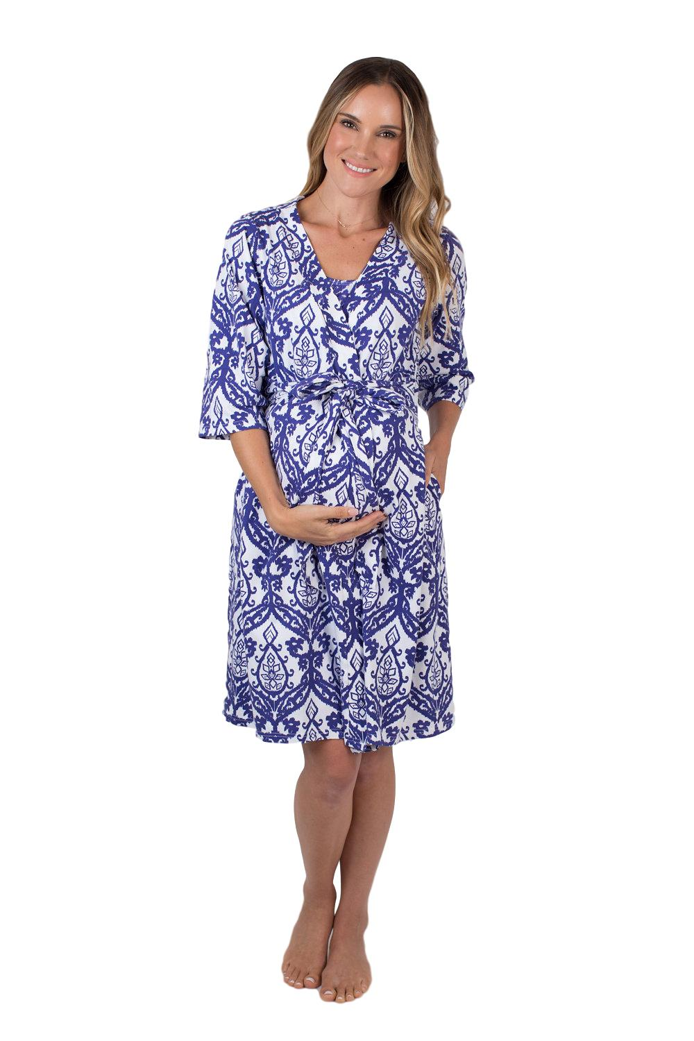 Brie Delivery Robe with Matching Baby Receiving Gown & Hat