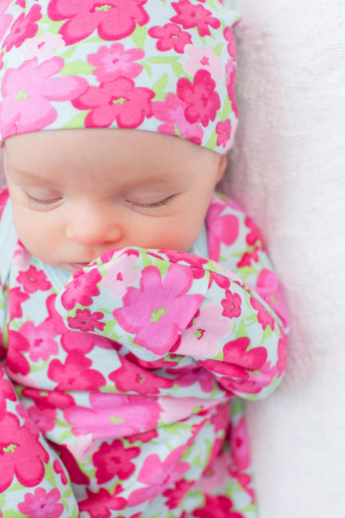 3 PC. Set -Brooke Delivery Robe and Matching Baby Receiving Gown & Newborn Hat Set