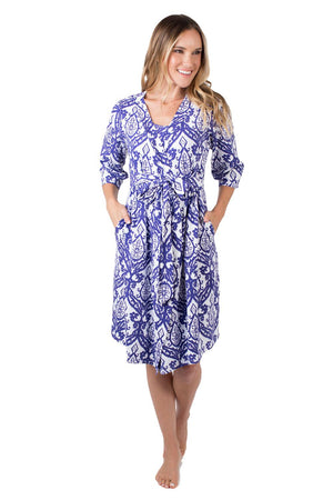Brie Maternity/Nursing Nightgown & Robe Set