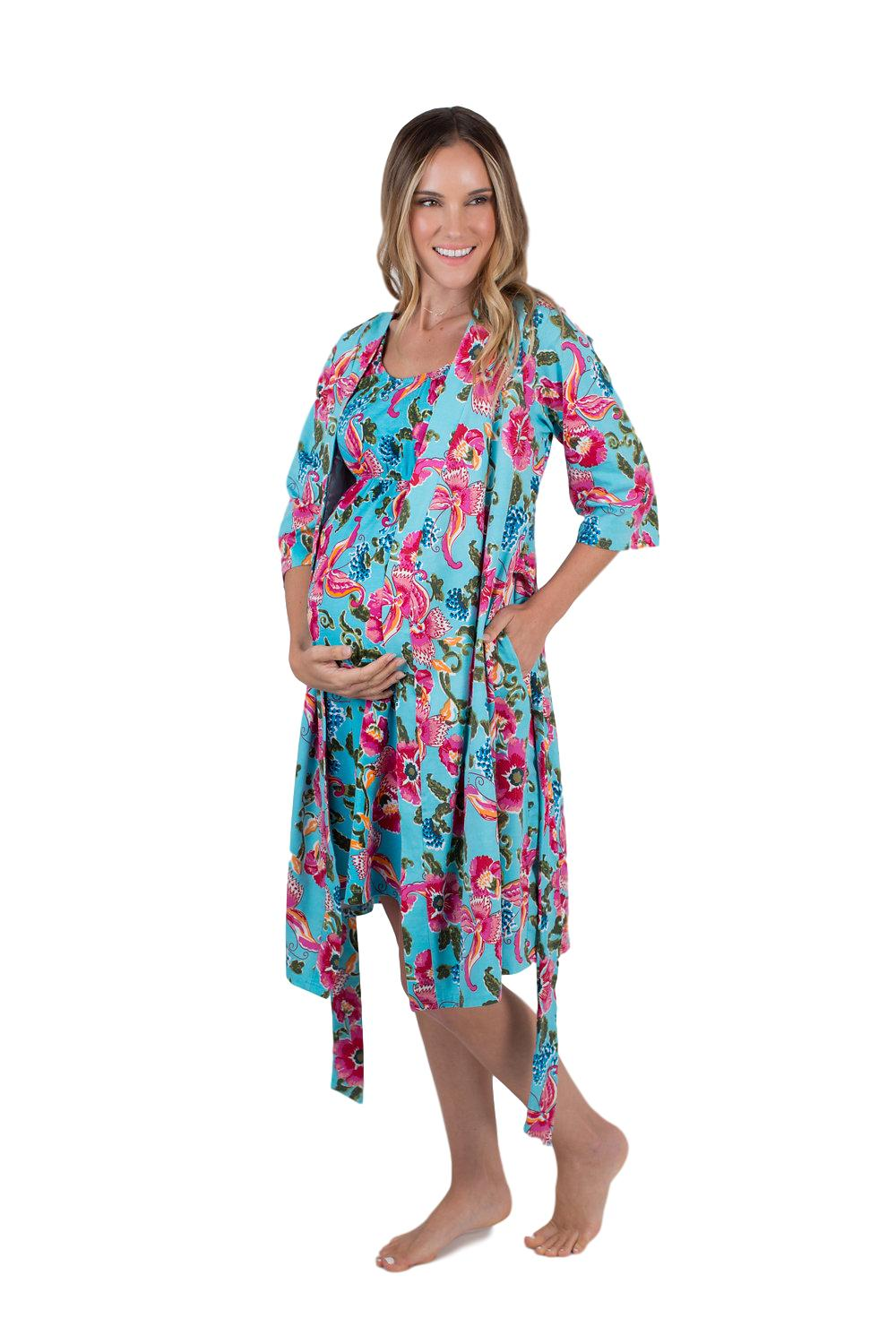 Isabelle Floral Maternity / Nursing Delivery Robe