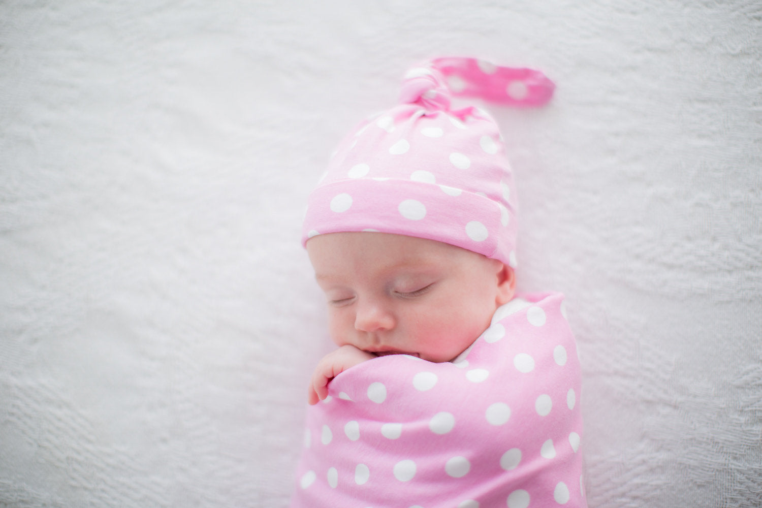 Molly Swaddle Blanket & Newborn Hat Set