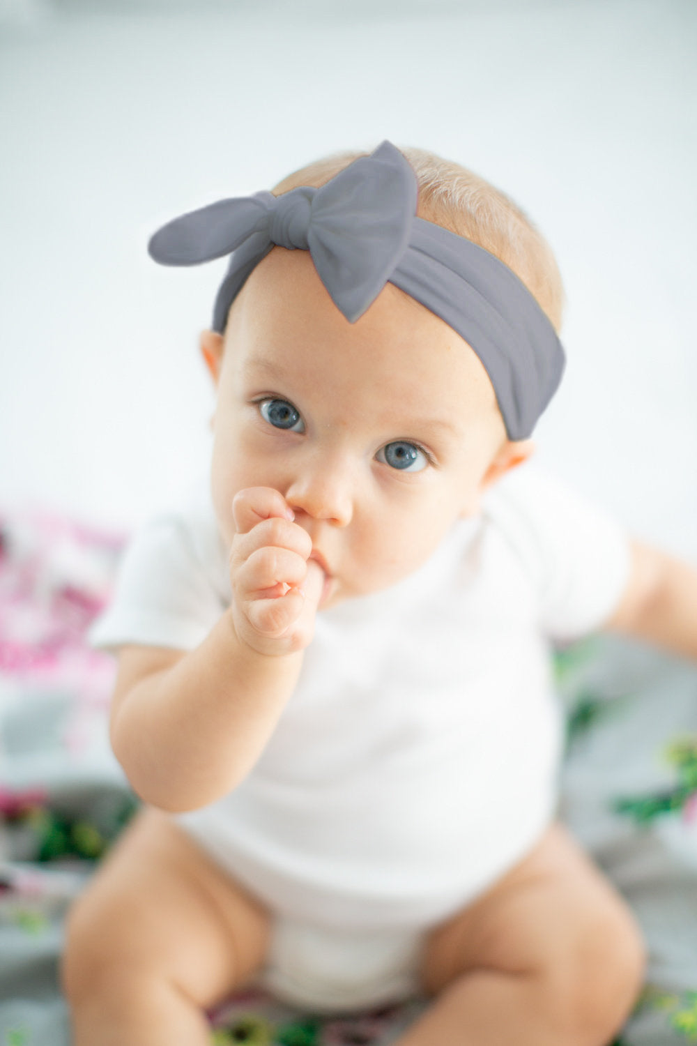 Baby Girl Headband Gray – Baby Be Mine 15f96a220dc