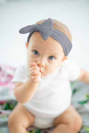 Baby Girl Headband Gray