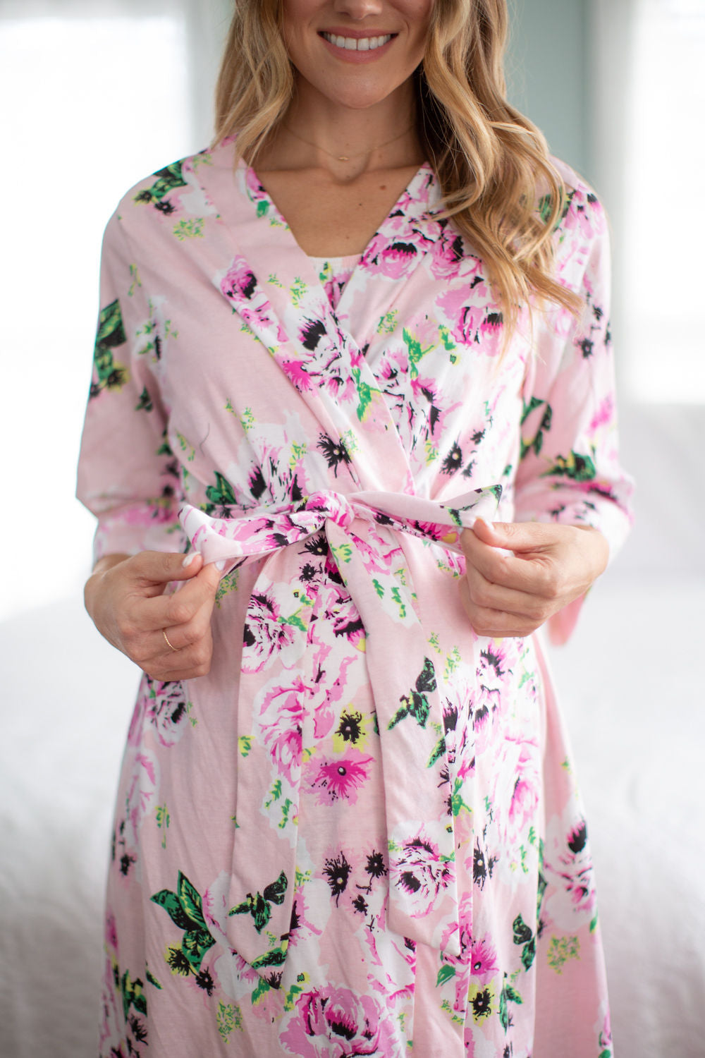 Amelia Nursing Sleeveless Nightgown & Robe