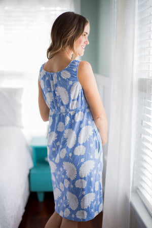 Zoe Floral 2 in 1 Maternity Nursing Nightgown