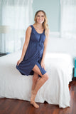 Navy Blue 3 in 1 Maternity Labor Nursing Gown