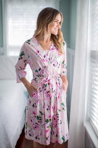 825235c9317 Amelia Floral Maternity Delivery Nursing Robe Amelia Floral Maternity  Delivery Nursing Robe