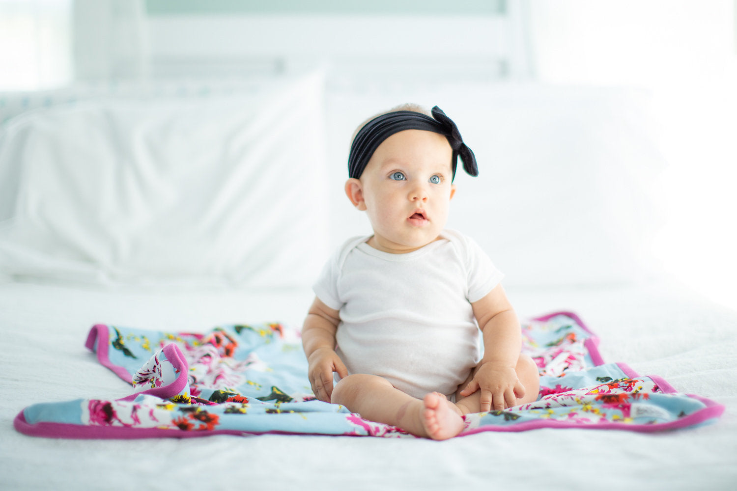 Baby Girl Black Headband Soft and Stretchy