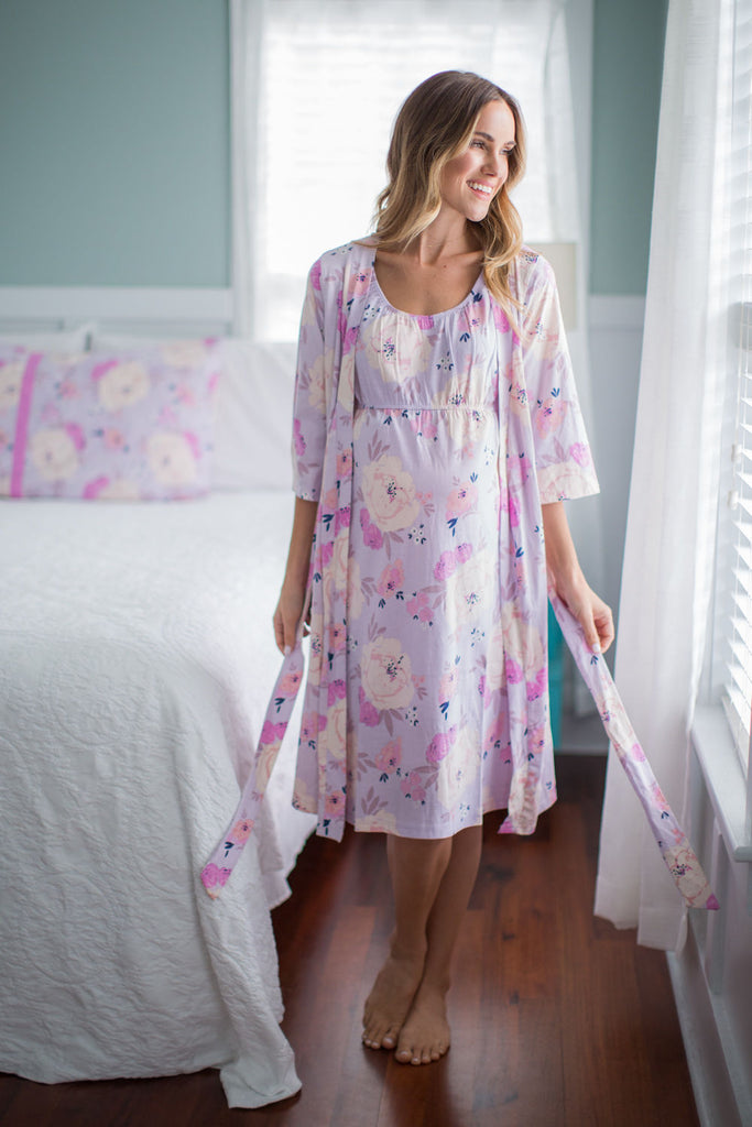 Anais Maternity Nursing Nightgown & Delivery Robe