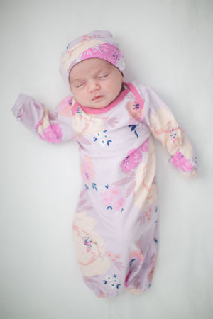 Anais Nightgown & Matching Baby Receiving Gown /Hat Set
