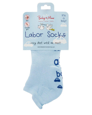 It's a boy! Labor and Push Socks Non Skid Hospital Bag Must Have
