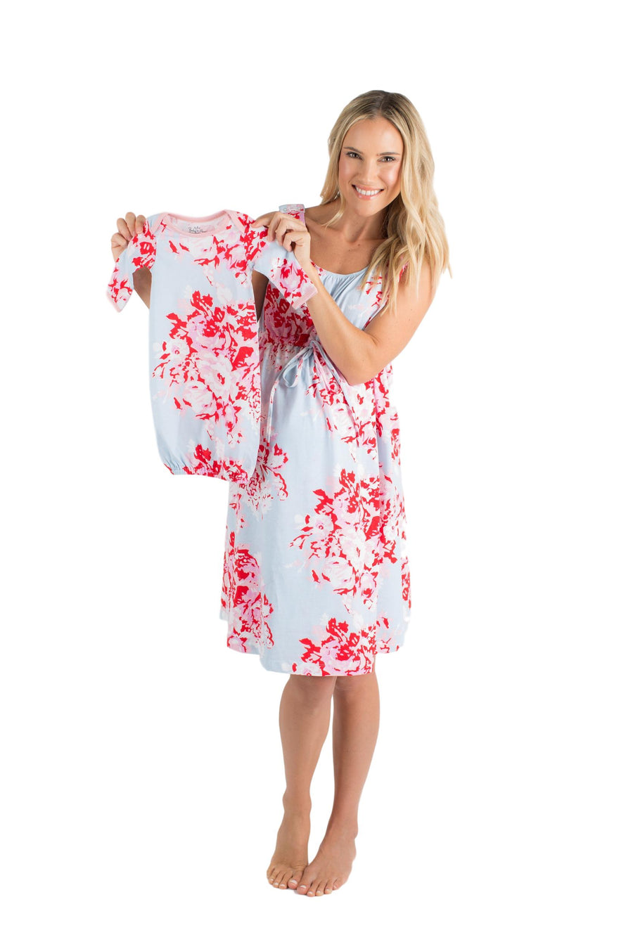 Mae Floral 3 in 1 Maternity Labor Delivery Nursing Gown & Matching ...