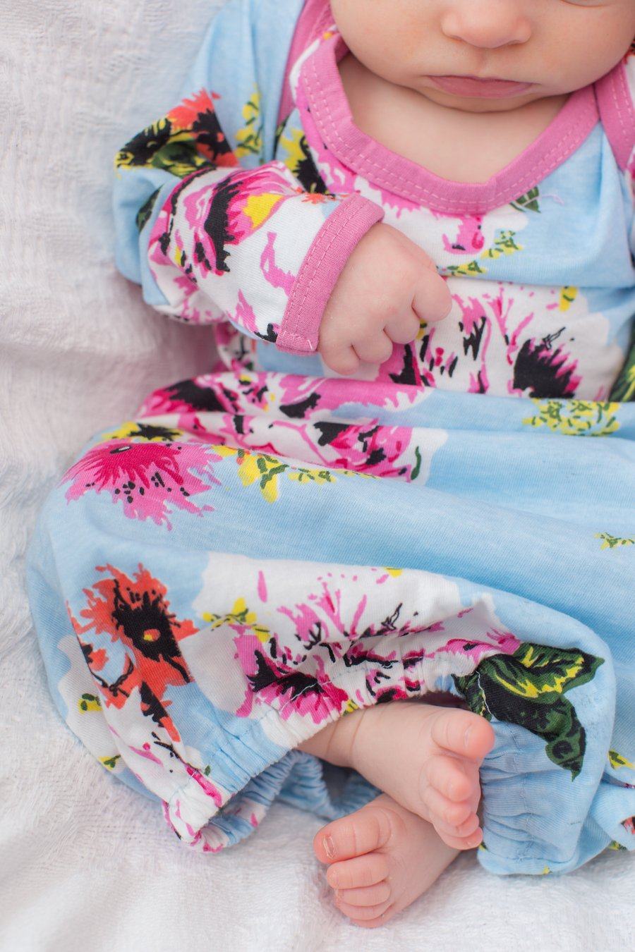 Isla Delivery Robe with Matching Floral Baby Gown & Hat