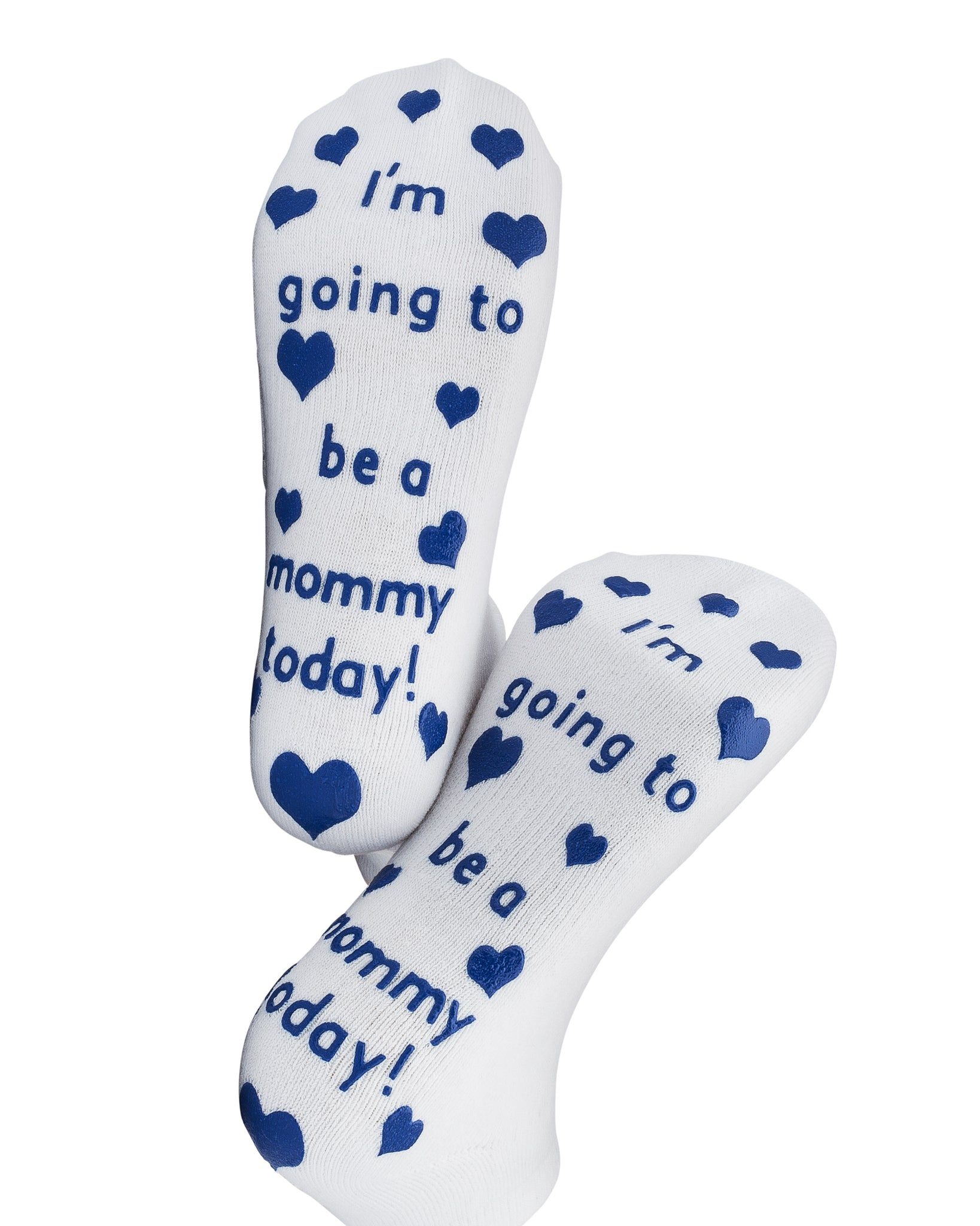I'm Going to Be A Mommy Today Labor Socks Blue