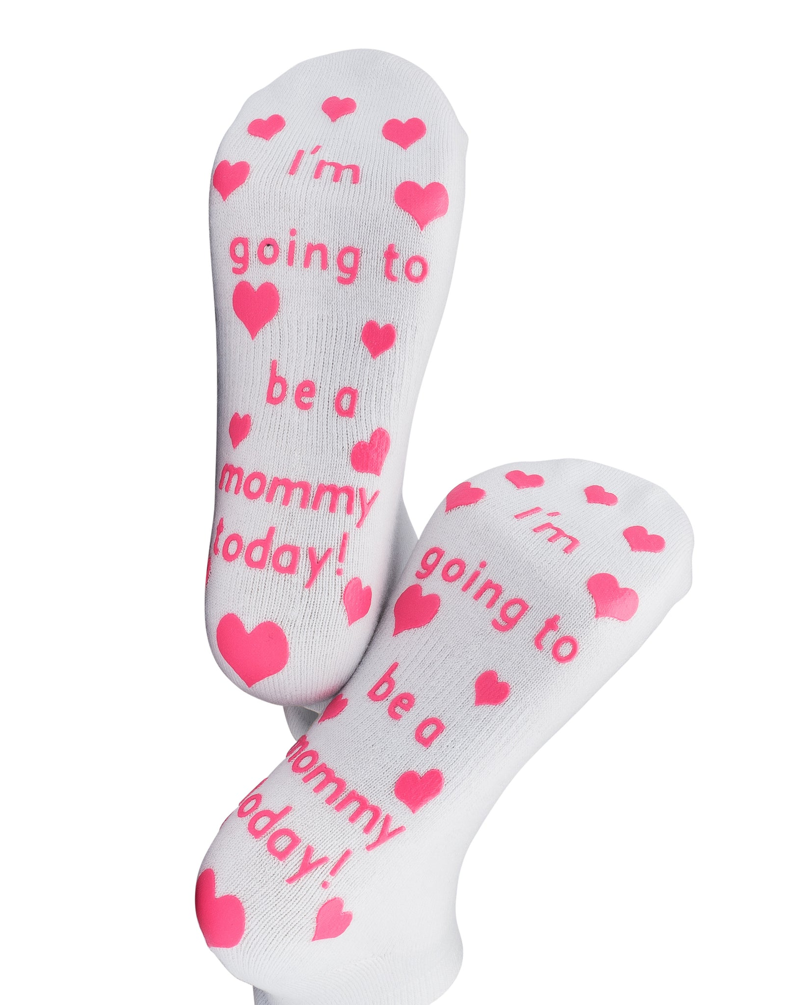 Mummy to Be 2020 with Footprint Printed Design Ladies Hot Pink Socks Present