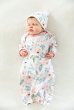Ivy Floral Baby Coming Home Outfit & Matching Newborn Hat Set 2pc.