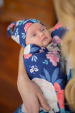 Annabelle Floral Swaddle Blanket Set