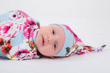 Isla Floral Swaddle Blanket & Newborn Hat Set