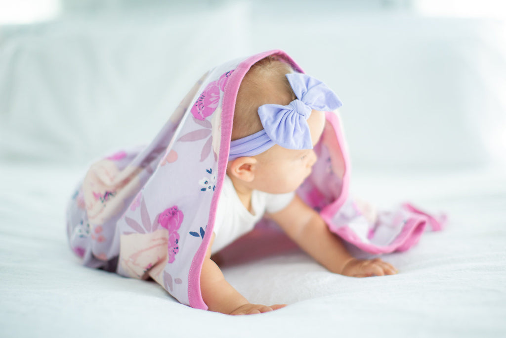 Anais Floral Swaddle Blanket and Hat Set