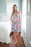 Isla Floral 3 in 1 Labor / Delivery / Nursing Birthing Gown