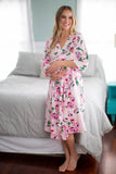 Amelia Delivery Robe & Swaddle Blanket Set