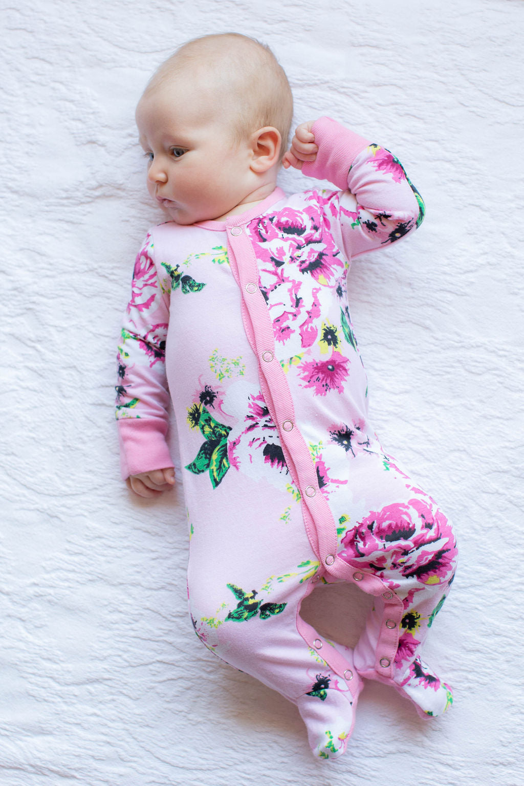 Amelia One Piece Footed Baby Romper
