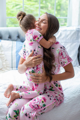 Amelia Maternity Nursing Pajamas & Big Sister Pajamas