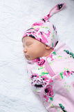 Amelia Swaddle Blanket Set & Matching Headband