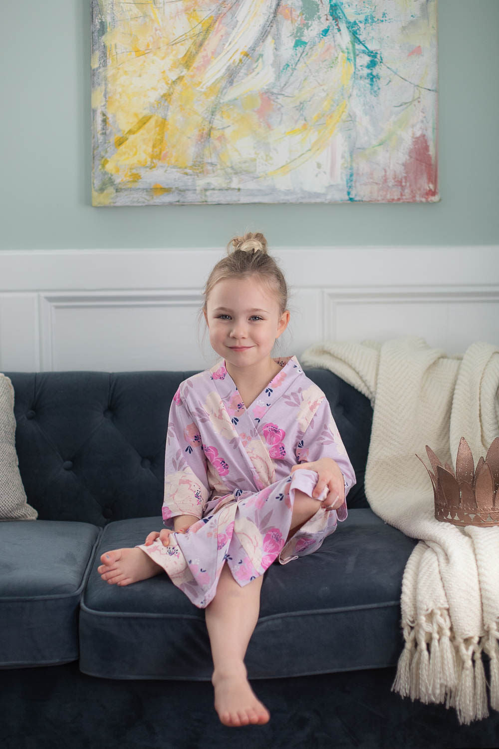 Anais Big Sister Robe &  Little Baby Sister Swaddle Set