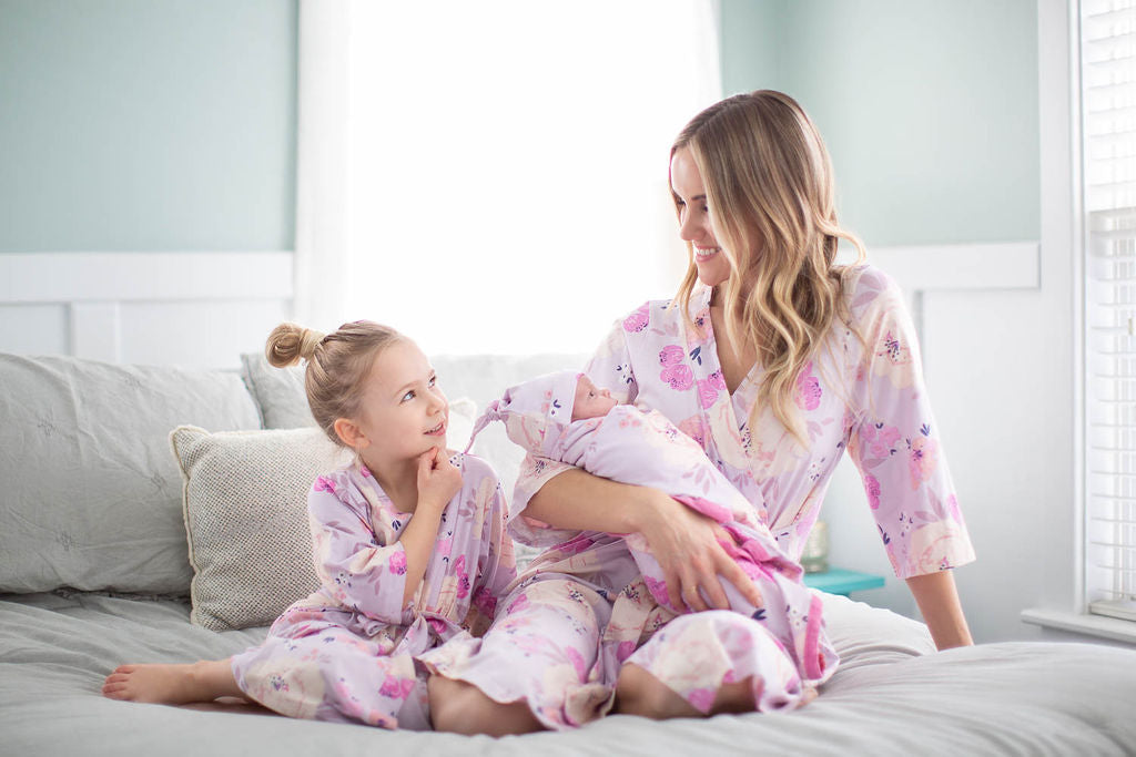 Anais Girl & Mommy Robe & Swaddle Set