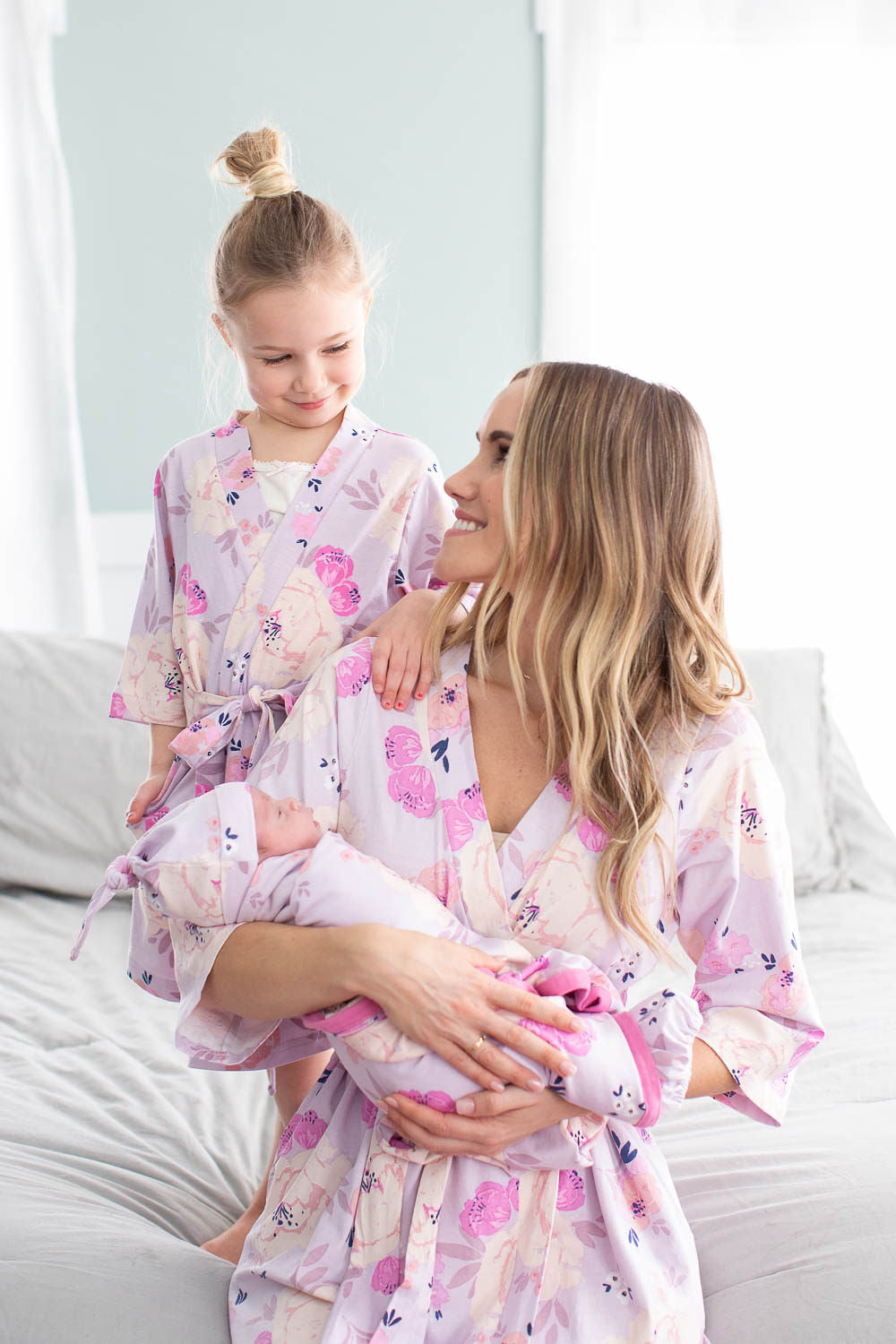 Matching Mommy Robe And Newborn Swaddle Cheap Online